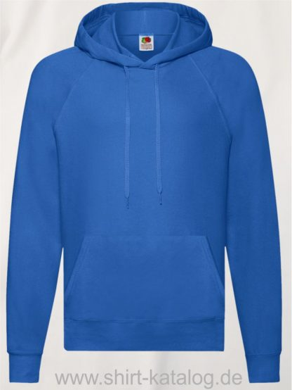 22013-Fruit-of-the-Loom-Lightweight-Hooded-Sweat-Royal