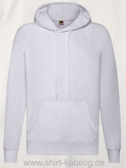 22013-Fruit-of-the-Loom-Lightweight-Hooded-Sweat-white
