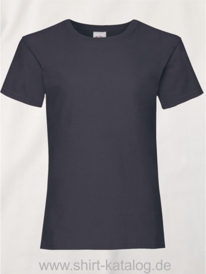 23255-Fruit-Of-The-Loom-Girls-Valueweight-T-F288K-Deep-Navy