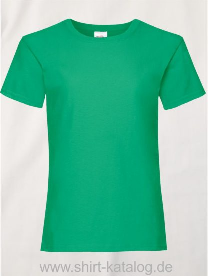 23255-Fruit-Of-The-Loom-Girls-Valueweight-T-F288K-Kelly-Green
