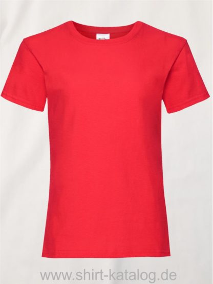23255-Fruit-Of-The-Loom-Girls-Valueweight-T-F288K-Red