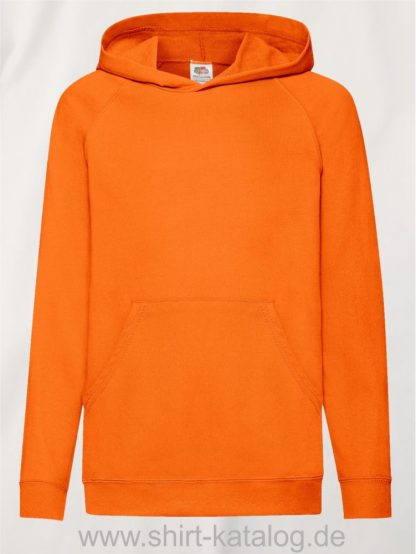 23294-Fruit-of-the-Loom-Lightweight-Hooded-Sweat-Kids-Orange