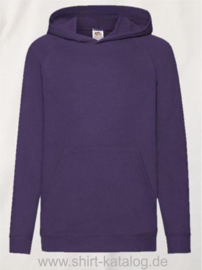 23294-Fruit-of-the-Loom-Lightweight-Hooded-Sweat-Kids-Purple