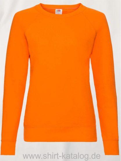 23328-Fruit-of-the-Loom-Lightweight-Raglan-Sweat-Ladies-Orange