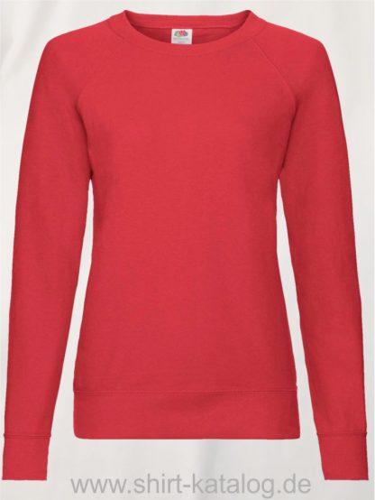 23328-Fruit-of-the-Loom-Lightweight-Raglan-Sweat-Ladies-Red