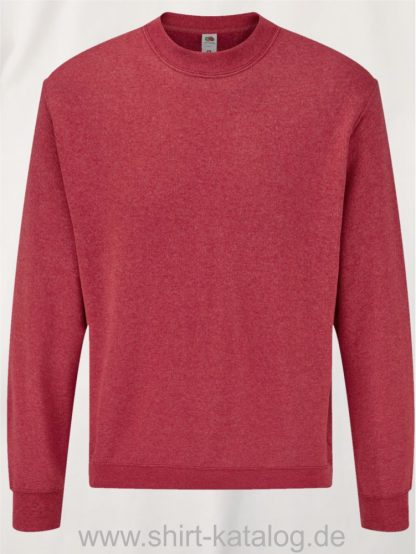 23332-Fruit-of-the-Loom-Classic-Set-in-Sweat-Heather-Red