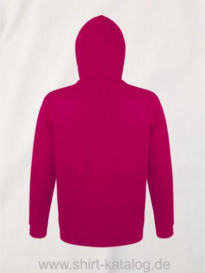 25845-Sols-Unisex-Hooded-Sweat-Shirt-Snake-fuchsia-back-view