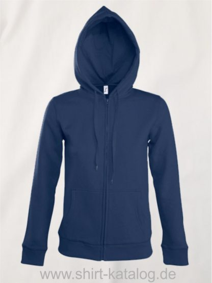25848-Women-Hooded-Zipped-Jacket-Seven-french-navy