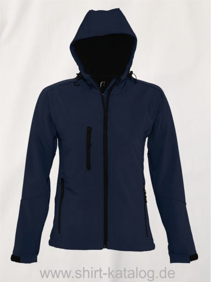 25849-Sols-Womens-Hooded-Softshell-Jacket-Replay-french-navy