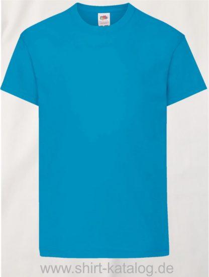 26016-Fruit-Of-The-Loom-Original-T-Kids-F110K-Azure-Blue