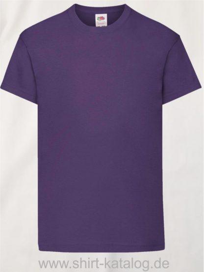 26016-Fruit-Of-The-Loom-Original-T-Kids-F110K-Purple