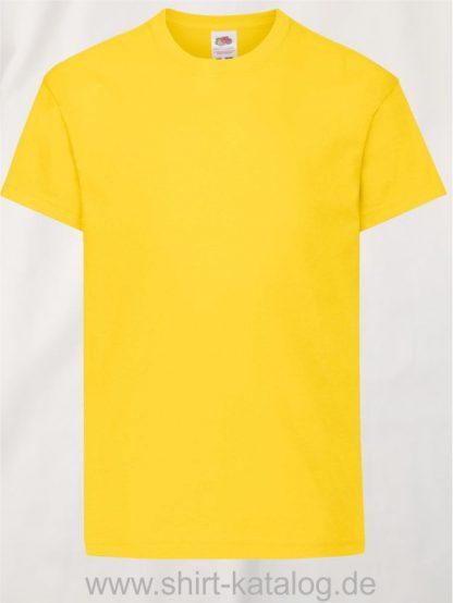26016-Fruit-Of-The-Loom-Original-T-Kids-F110K-Yellow