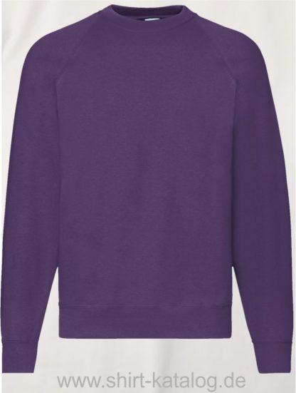26032-Fruit-of-the-Loom-Classic-Raglan-Sweat-Purple