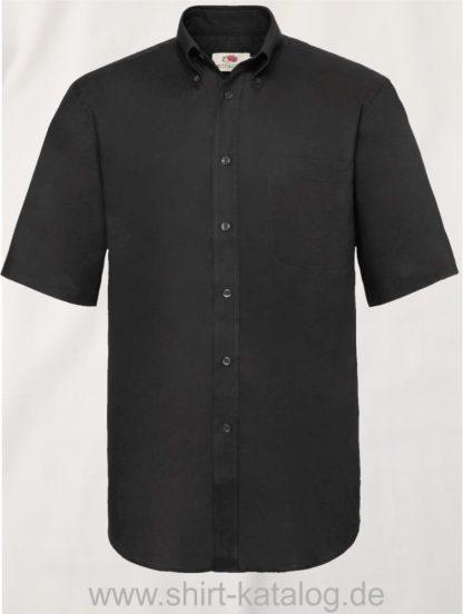 26047-Fruit-of-the-Loom-Short-Sleeve-Oxford-Shirt-Men-Black