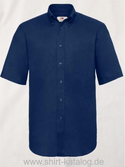 26047-Fruit-of-the-Loom-Short-Sleeve-Oxford-Shirt-Men-Navy