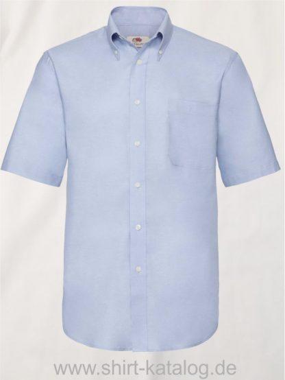 26047-Fruit-of-the-Loom-Short-Sleeve-Oxford-Shirt-Men-Oxford-Blue