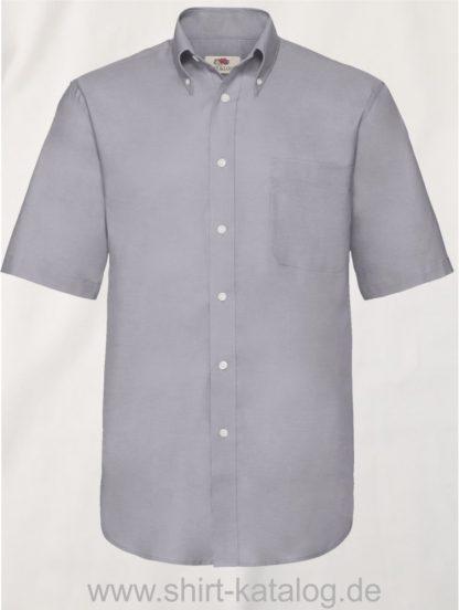 26047-Fruit-of-the-Loom-Short-Sleeve-Oxford-Shirt-Men-Oxford-Grey