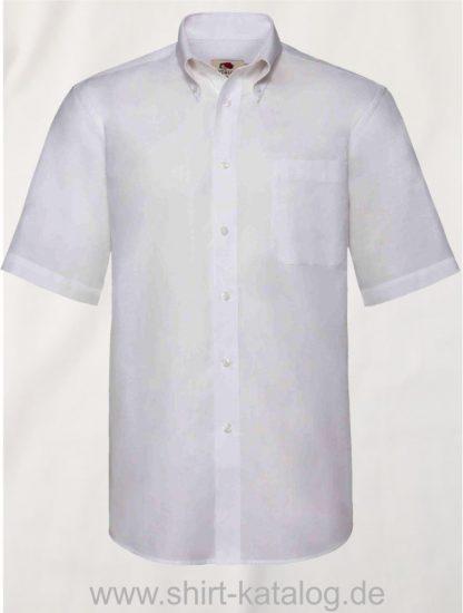 26047-Fruit-of-the-Loom-Short-Sleeve-Oxford-Shirt-Men-White