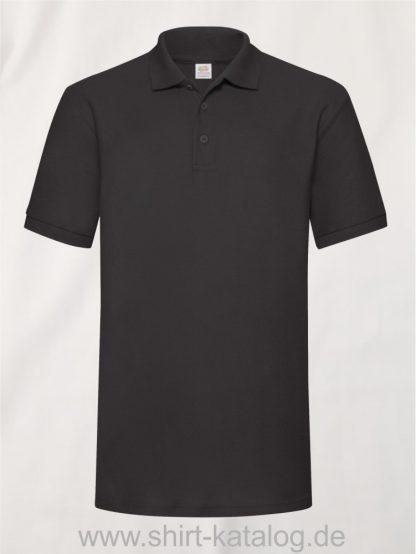 6535-Heavy-Piqué-Polo-Black