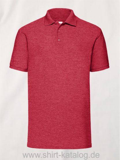 6535-Piqué-Polo-Heather-Red