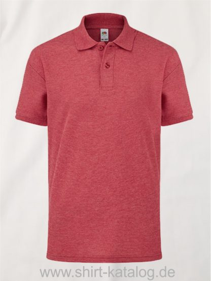 6535-Polo-Kids-Heather-Red
