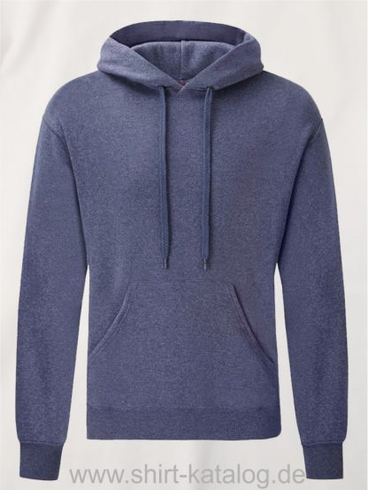 Classic-Hooded-Sweat-Heather-Navy