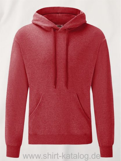 Classic-Hooded-Sweat-Heather-Red
