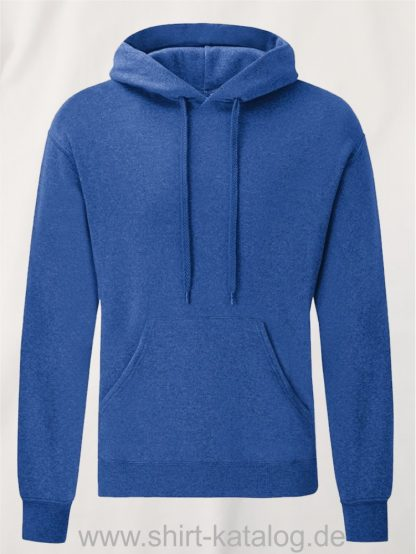 Classic-Hooded-Sweat-Heather-Royal