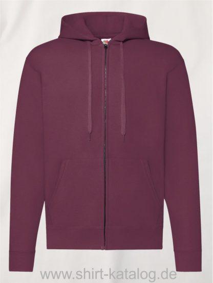 Classic-Hooded-Sweat-Jacket-Burgundy