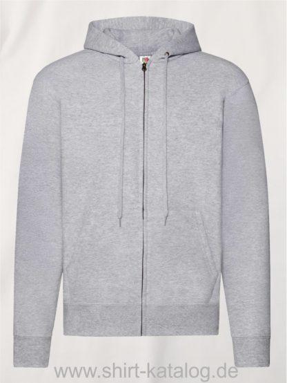Classic-Hooded-Sweat-Jacket-Heather-Grey