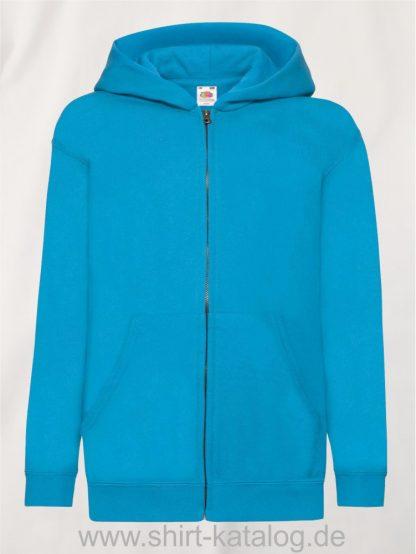 Classic-Hooded-Sweat-Jacket-Kids-Azure-Blue