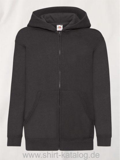 Classic-Hooded-Sweat-Jacket-Kids-Black