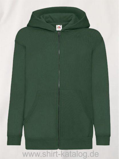 Classic-Hooded-Sweat-Jacket-Kids-Bottle-Green