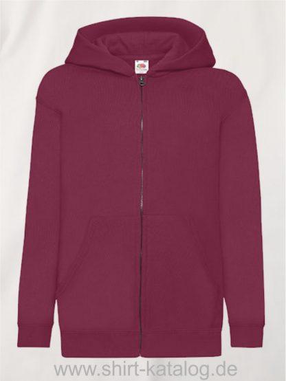 Classic-Hooded-Sweat-Jacket-Kids-Burgundy
