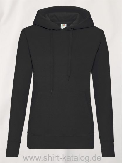 Classic-Hooded-Sweat-Lady-Fit-Black