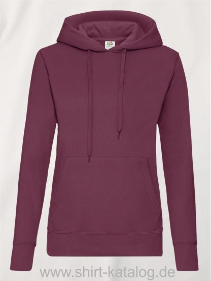 Classic-Hooded-Sweat-Lady-Fit-Burgundy