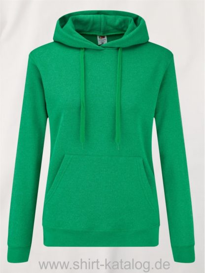Classic-Hooded-Sweat-Lady-Fit-Heather-Green