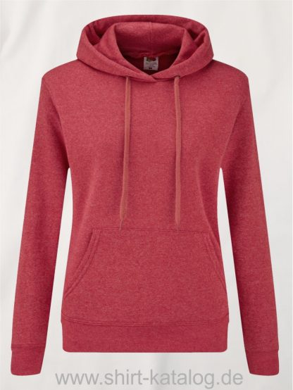 Classic-Hooded-Sweat-Lady-Fit-Heather-Red
