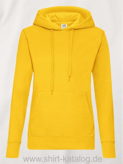 Classic-Hooded-Sweat-Lady-Fit-Sunflower