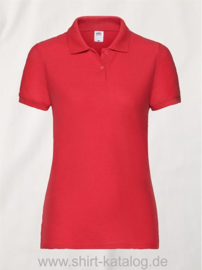 LADIES-6535-POLO-Red