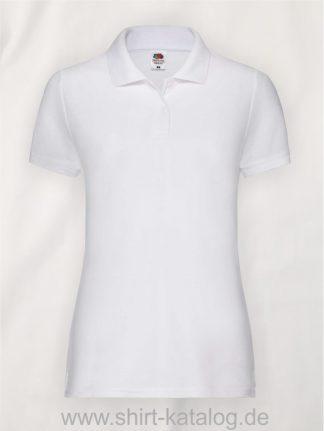 LADIES-6535-POLO-White