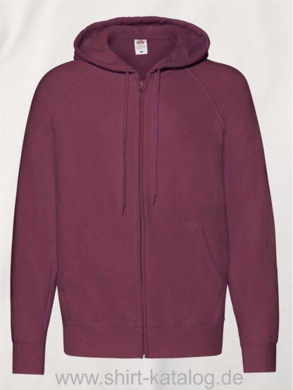 Lightweight-Hooded-Sweat-Jacket-Burgundy
