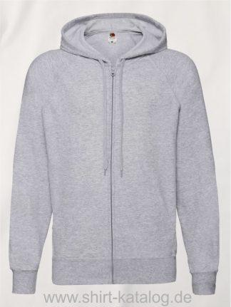 Lightweight-Hooded-Sweat-Jacket-Heather-Grey
