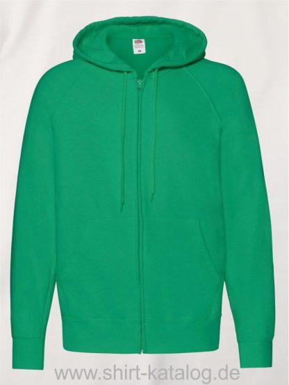 Lightweight-Hooded-Sweat-Jacket-Kelly-Green