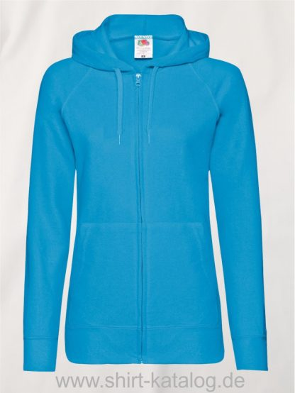 Lightweight-Hooded-Sweat-Jacket-Lady-Fit-Azure-Blue