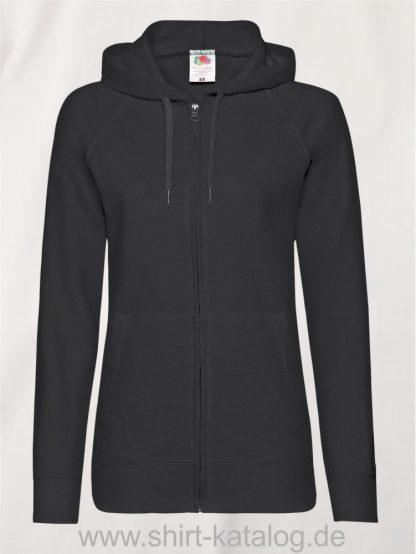 Lightweight-Hooded-Sweat-Jacket-Lady-Fit-Black