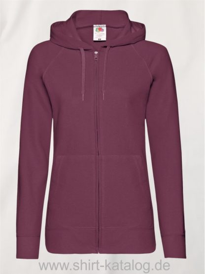 Lightweight-Hooded-Sweat-Jacket-Lady-Fit-Burgundy