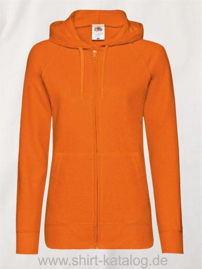 Lightweight-Hooded-Sweat-Jacket-Lady-Fit-Orange