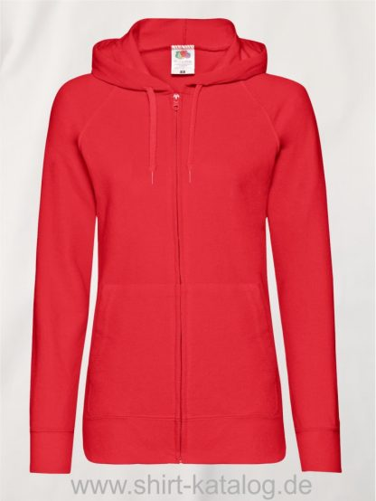 Lightweight-Hooded-Sweat-Jacket-Lady-Fit-Red