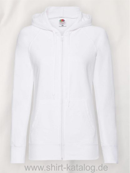 Lightweight-Hooded-Sweat-Jacket-Lady-Fit-White